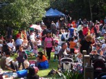 So many families attended the Teddy Bears' Picnic
